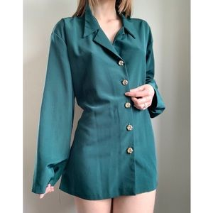Vintage Jouly green button down blouse